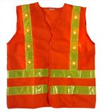 Traffic Police Reflective Safety Vest with LED