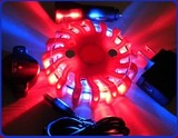 9 in 1 16 led rechargeable led emergency flares red