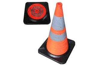 Collapsible Traffic Cone(rubber base)